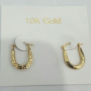 Jewelry - 10k yellow gold u shape earrings double side